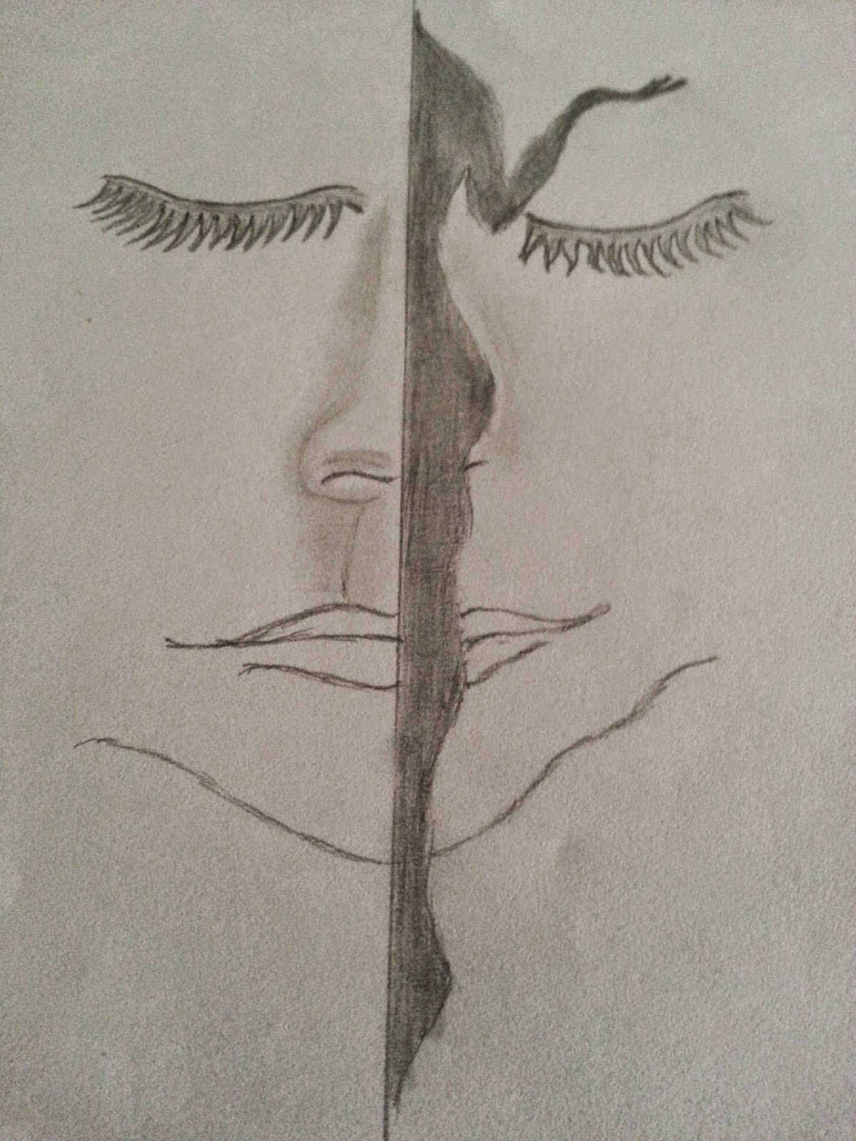 My recent pencil drawing nature women abuse