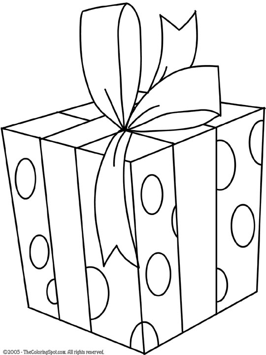 Coloring Pages Christmas Presents title=