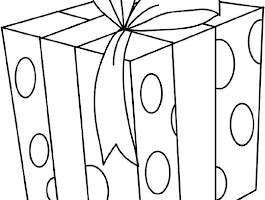 Wrapped Present Coloring Page