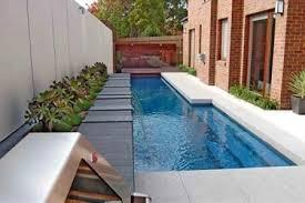 contoh desain kolam renang minimalis terbaru