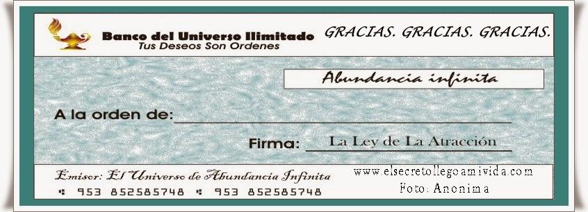 El Secreto llego a Mi Vida: HOY 30 de Marzo 2014 Cheque de la ...