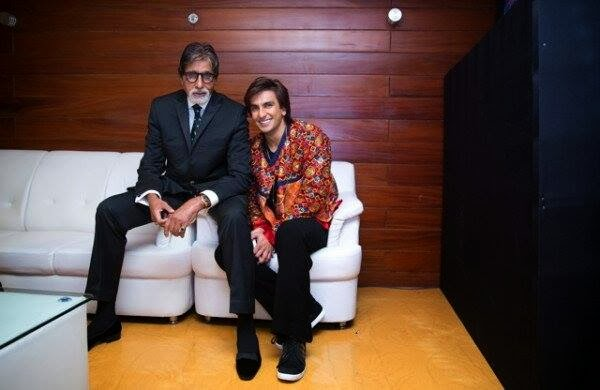 Ranveer with Mr. Amitabh Bachchan at Filmfare Awards backstage