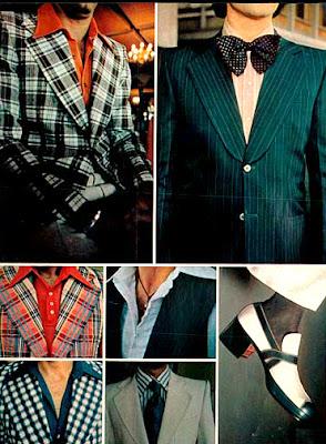 moda masculina em 1973, apresentada na XVI Fenit. anos 70; moda década de 70, moda masculina anos 70. história anos 70. Oswaldo Hernandez..
