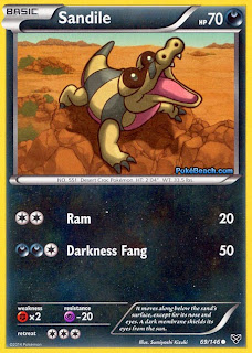 Sandile Pokemon X and Y Card