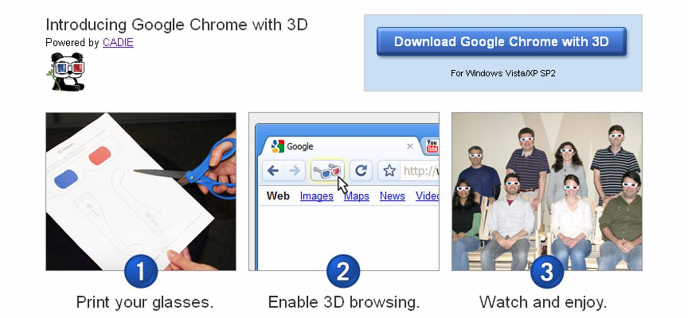 Google Chrome with 3D