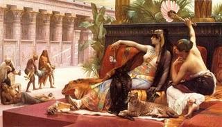 Cleopatra-probando-+venenos-con-condenados-a-muerte