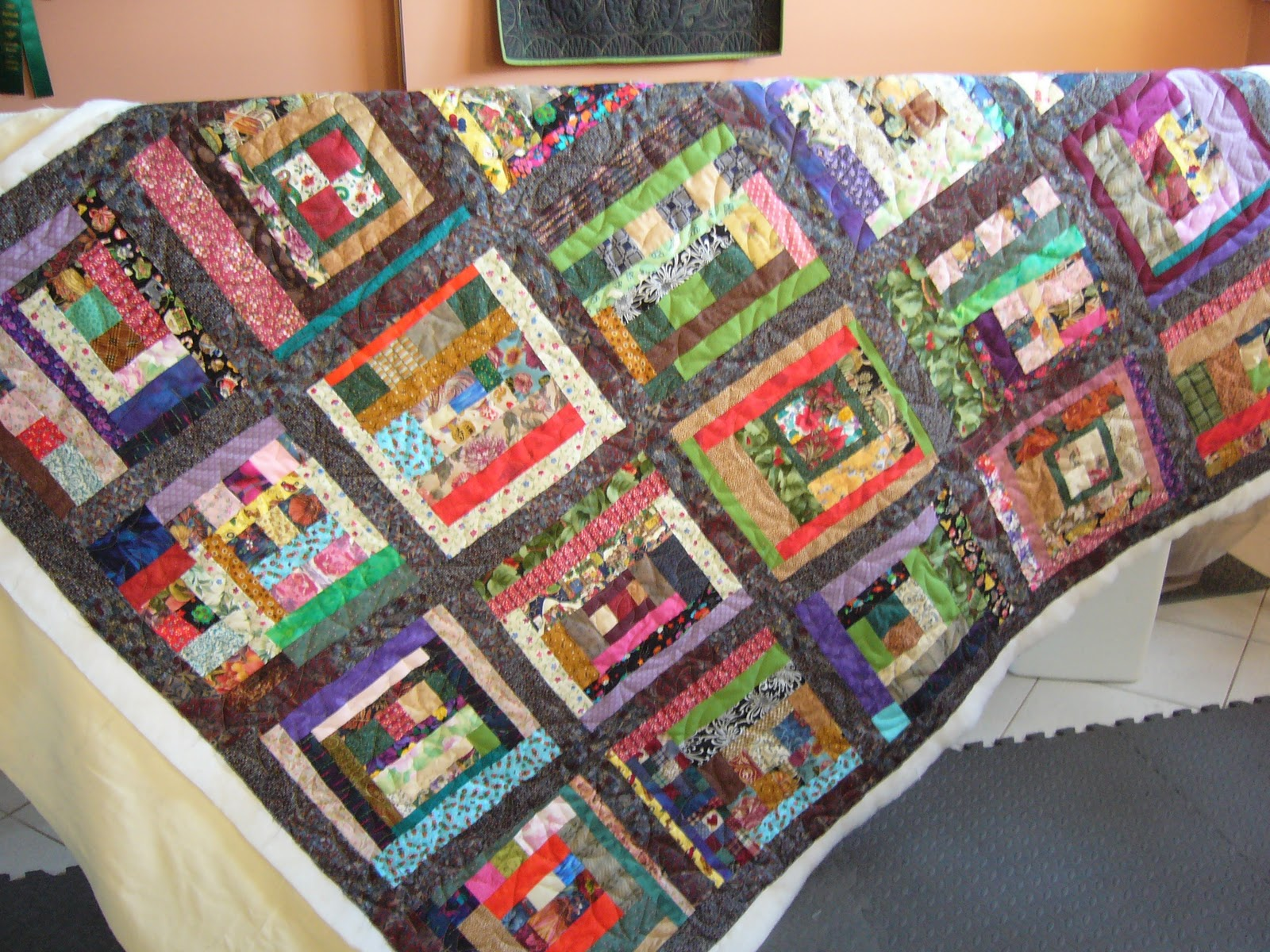 caledonia quilter: scrappy quilt and a gift basket