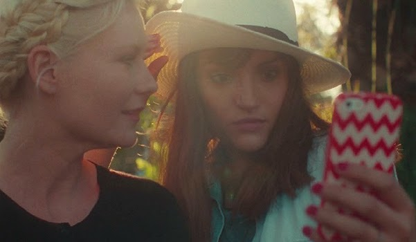 Kirsten Dunst in a short film about the self with the Stars