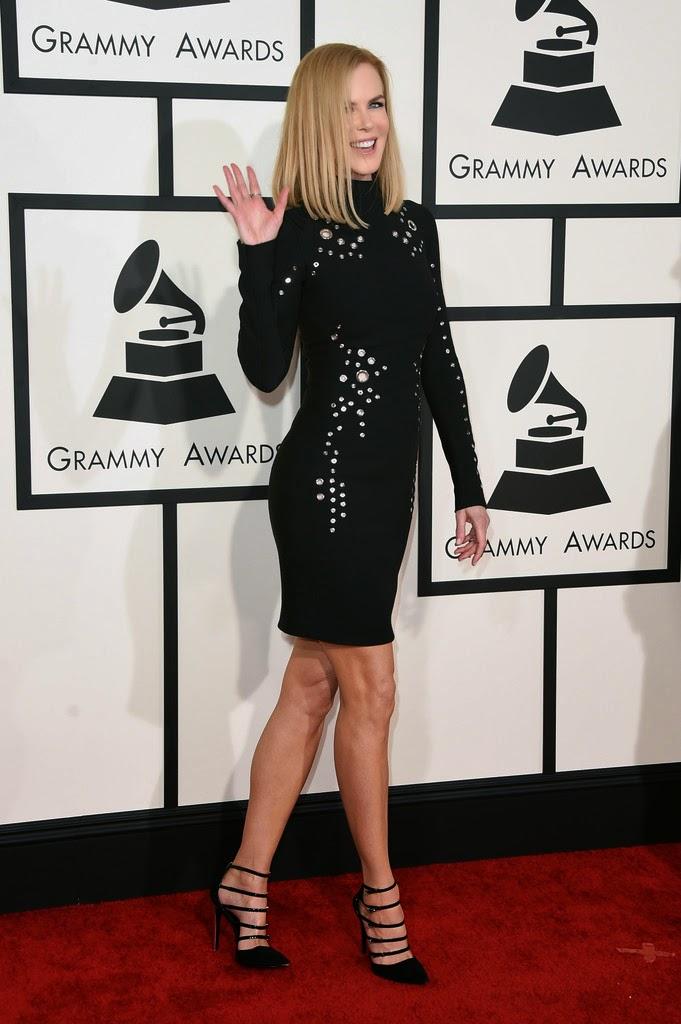 نيكول كيدمان خلال حضورها حفل جوائز غرامي السنوي في لوس انجليس
