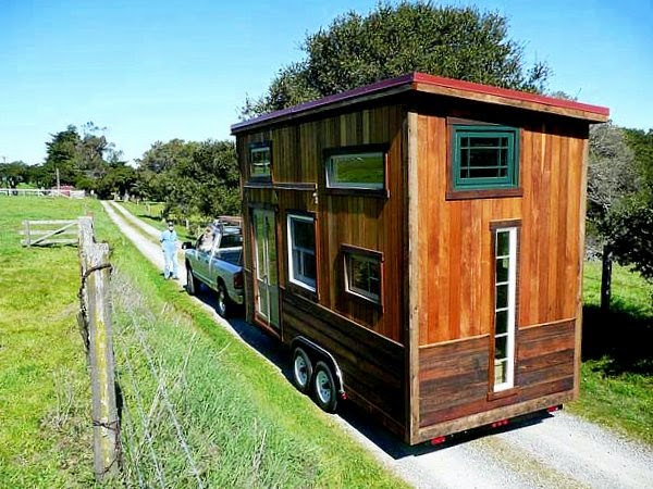 The flying tortoise colin 39 s coastal cabin an imaginative Tiny little houses on wheels