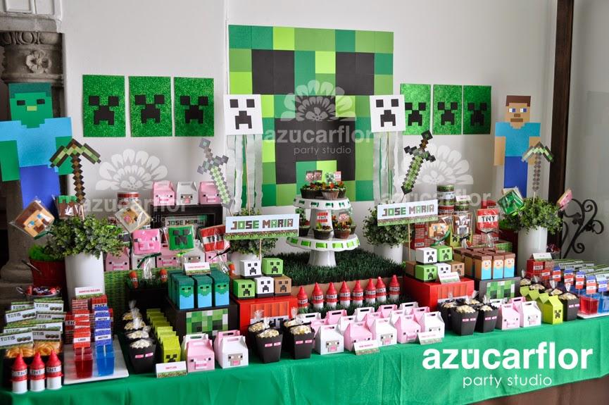 AZUCAR FLOR party studio: MINECRAFT
