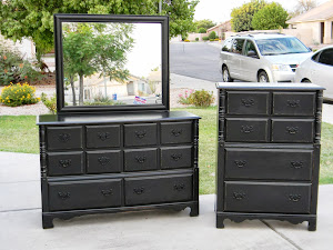 Black Dresser with Mirror  *SOLD*