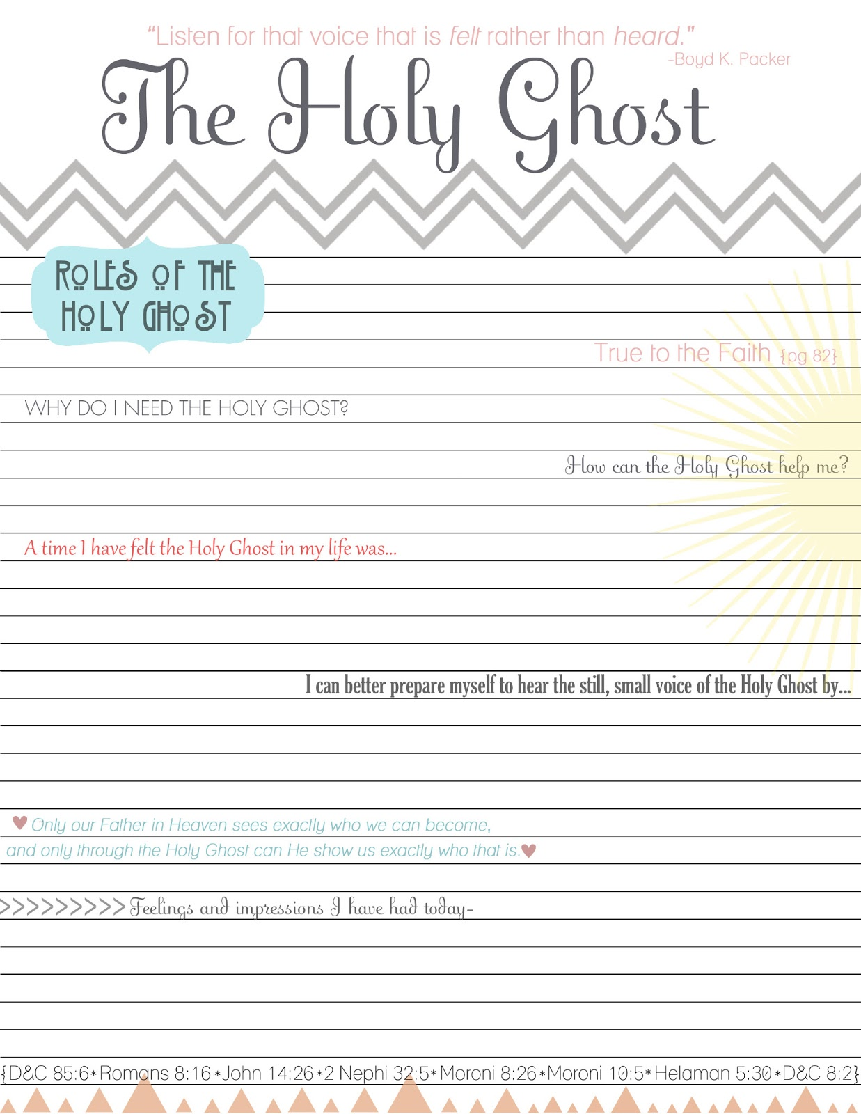 Fruits And Gifts Of The Holy Spirit Worksheet - Best Image ...