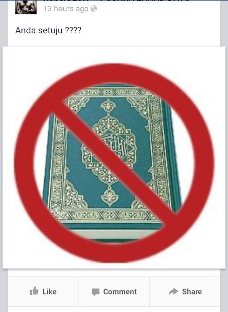 ISLAM DAN ALQURAN DI HINA SEPERTI BABI (PENGHASUT CYBER)