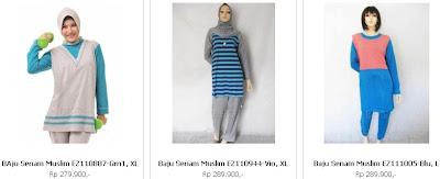 baju senam muslim dan muslimah terbaru