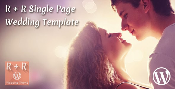 Responsive wedding template