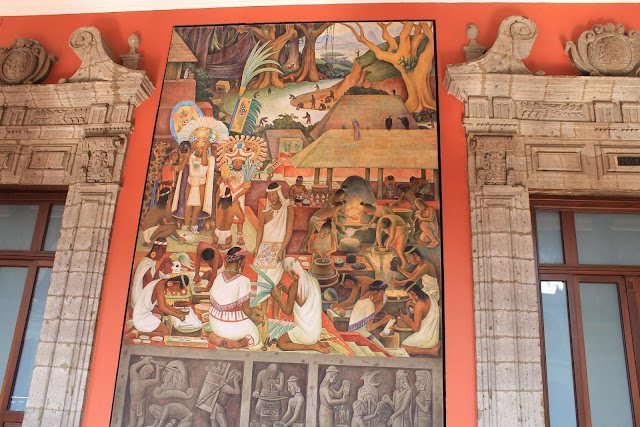 Maryland pink and green museums murals and monuments for Diego rivera mural palacio nacional