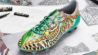 6 Desain Sepatu Sepakbola Unik , Para Pemain Sepakbola Dunia