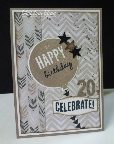 Happy Heart Cards Jai 288 Stampin Up Go Wild Masculine Birthday