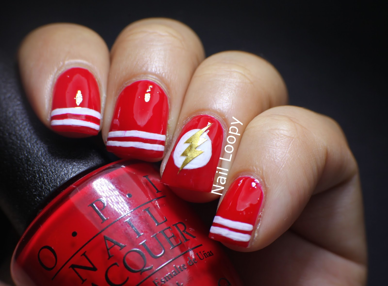 Old Fashioned Lightning Bolt Nail Art Picture Collection Nail Art