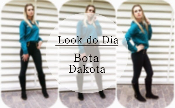 look do dia com bota de cano longo dakota