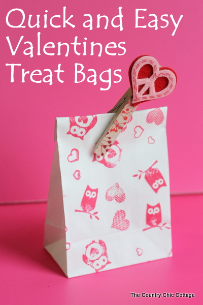 washi tape valentines treat bags live video the country chic cottage - Valentine Treat Bag Ideas