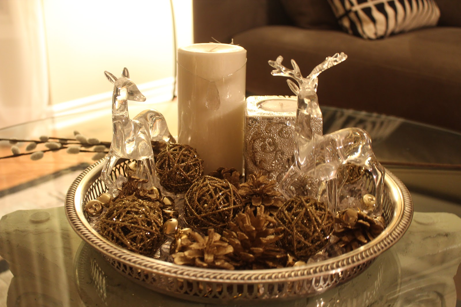 beautiful christmas centerpiece diy - Rustic Christmas Centerpieces
