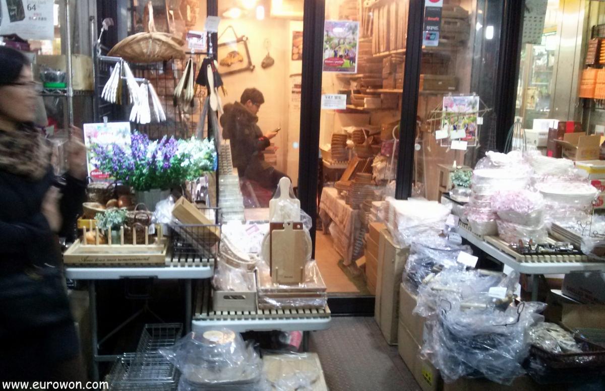 Tienda vacía en Dongdaemun
