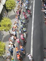 Ciclistas en cabeza de carrera