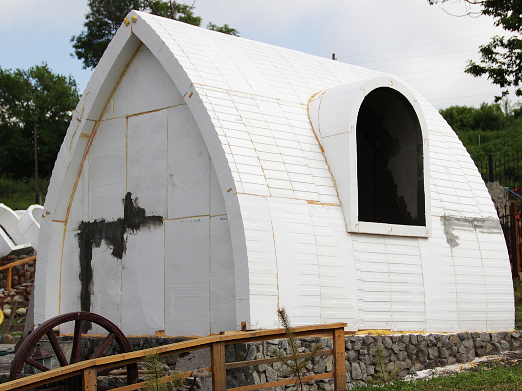 Купольный дом своими руками из пенопласта за 3 дня 17