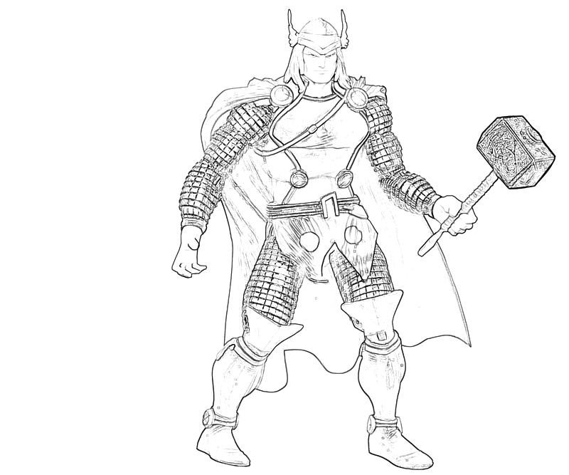 thor coloring pages - thor art lowland seed