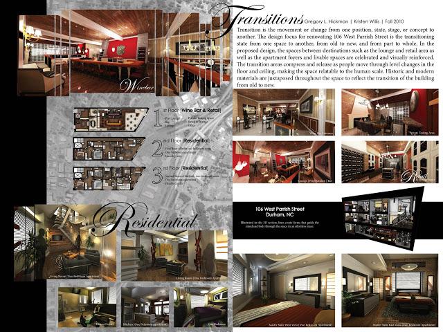 Architecture villa image presentation board