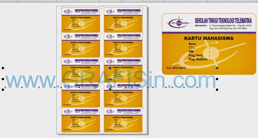 Format Desain Kartu Mahasiswa / ID Card di A4 CorelDraw