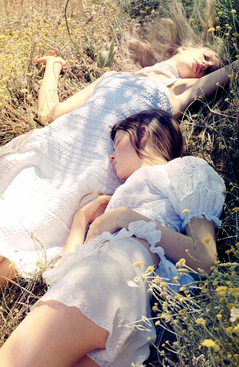 Behati Prinsloo & Romina Lanaro in Vogue UK March 2006 (photography: Benjamin Alexander Huseby) via fashioned by love british fashion blog
