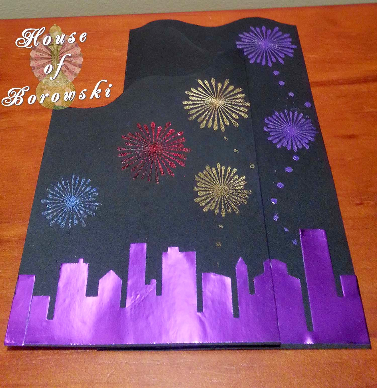 House of Borowski, memory box cityscape silhouette, Cuttlebug, allison ellis design, judikins, Gina K Design Stamp, DCWR,