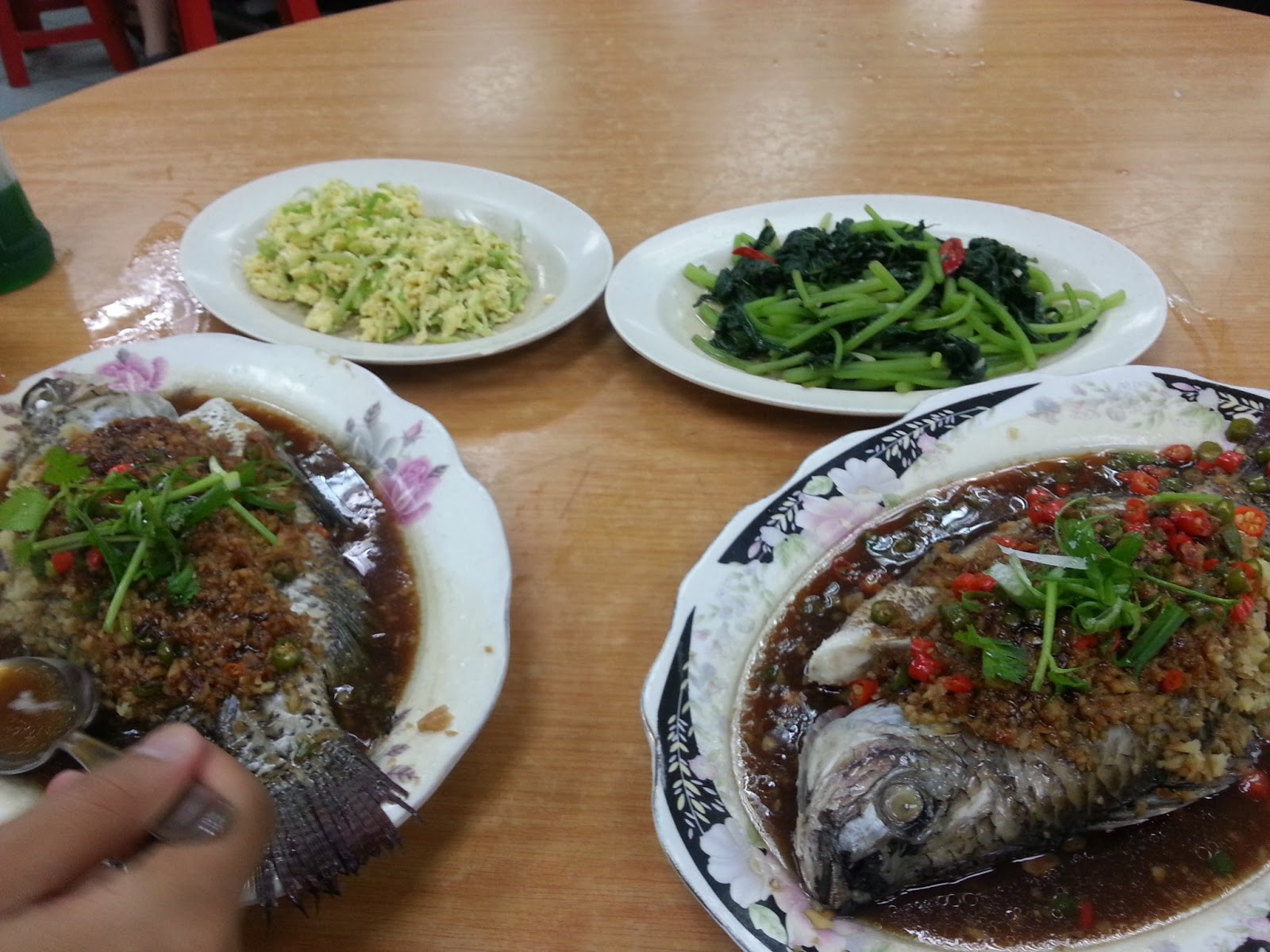Traveler 39 s usb lan jie steam fish for Side dish with fish