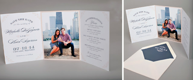 Save the Date Chicago Wedding