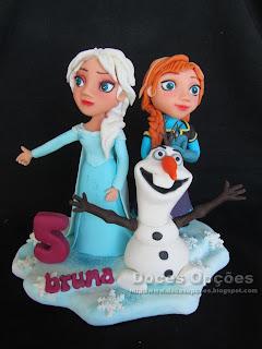 Um topo de bolo do Reino do Gelo