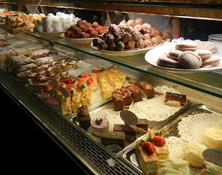 Dessert selection in Little Italy