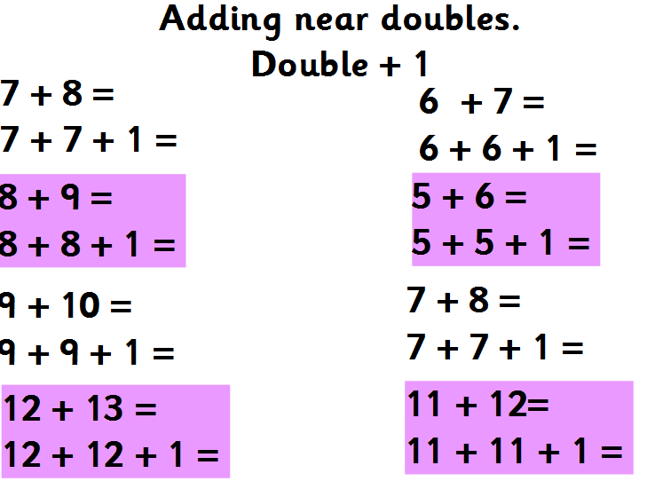 near doubles worksheet Termolak – Near Doubles Addition Worksheet