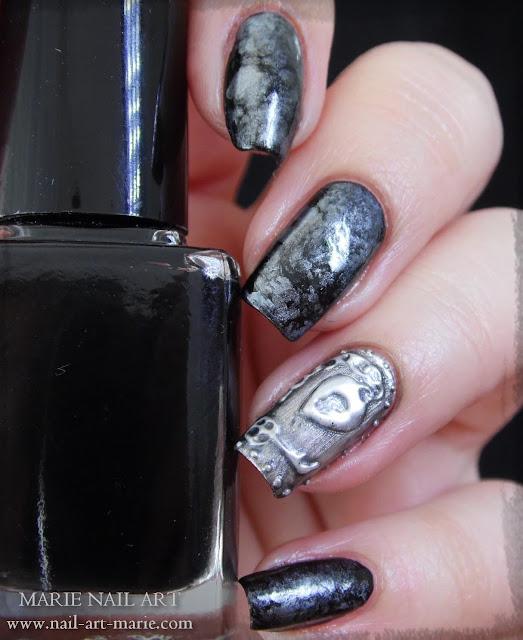 Nail Art effet Métal Ancien en 3D7