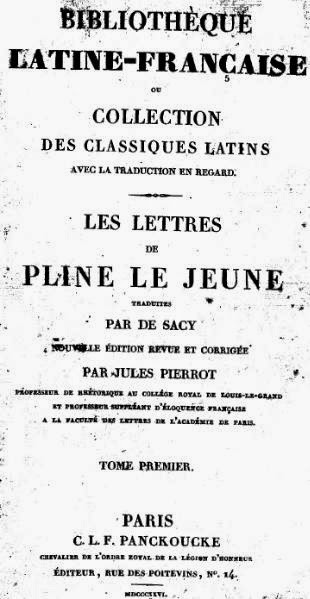 Letters of Pliny the Younger, Paris, 1826. Pliny the Younger on Christians.