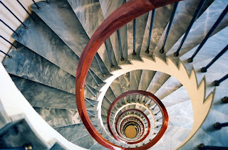 Employee turnover is like spiraling stairs