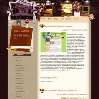 Just Pick One Blogger Template. beautiful background template blogger