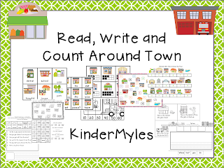 http://www.teacherspayteachers.com/Product/Read-Write-and-Count-Around-Town-1041760
