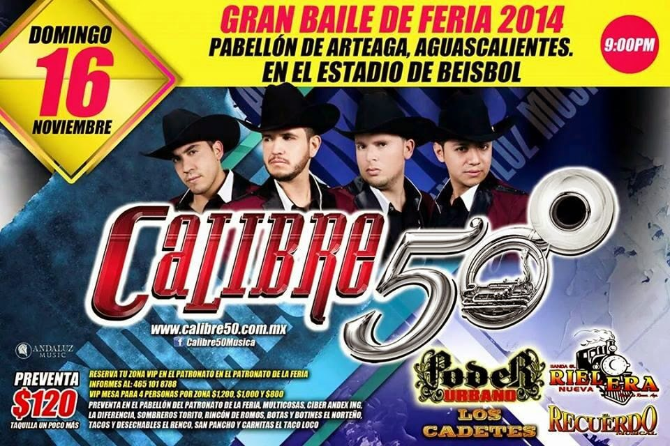 programa feria pabellón arteaga 2014 Calibre 50