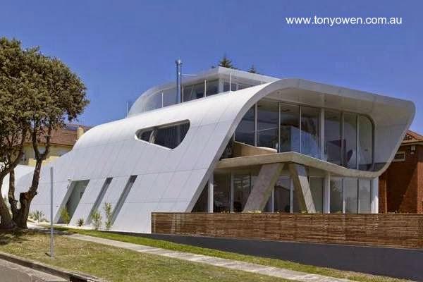 Residencia de diseño futurista en Sidnay, Australia