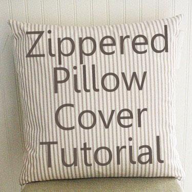 Pillow Cover Pattern Zipper: Zipper Pillow Cover Tutorial,