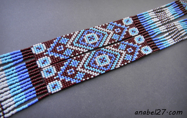 beaded jewelry beadwork split loom necklace beadweaving