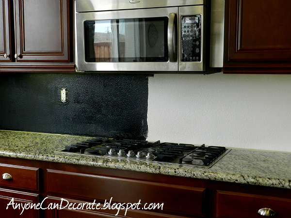 Chalkboard Paint Backsplash anyone can decorate: my $10 kitchen backsplash chalkboard